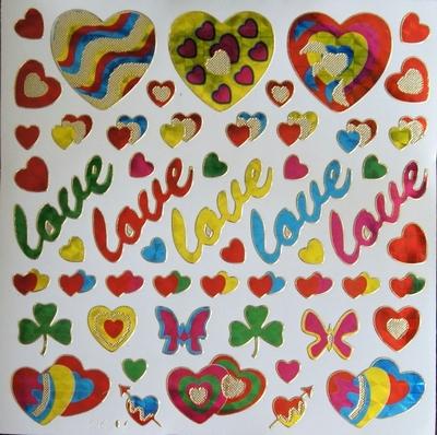 STG325 Love afm.Stickervel 15 X 15 CM