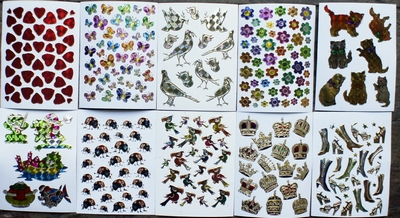 10 Leuke stickers serie 1  Afm. 10 X 7,5 Cm
