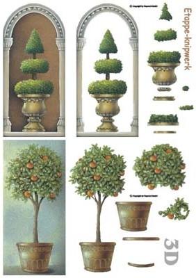 416920 3D Sinaasappelboom
