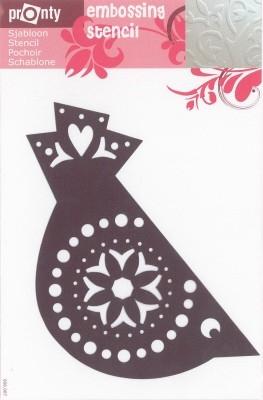484139048 Pronty Emb. Stencil Kerstbal