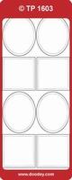 TP1603TG Stickers Cirkels,vierkantjes  Transparant Goud