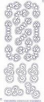 7001/0003 Borduurstickers Ornamenten -  Transparant Goud