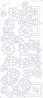 7001/0110 Sticker Joy Div.Bloemmotieven Zilver