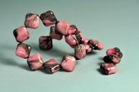 5020082 10 X Glaskraal plat roze/grijs 12mm