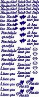 ST064W Sticker Hartelijke Groetjes-Hou van jou Wit