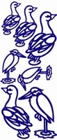 ST121Z Stickers Div.vogels Zilver