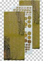 616660  Leane Creatief stickers Mirror Gold Cijfers