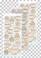 617476  Leane Creatief stickers skin Thea & Cupcake