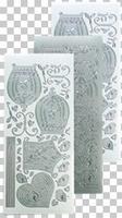 618756  Leane Creatief stickers Zilver Vogelkooi