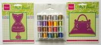 20 Klosjes garen en 2 mariane design borduurstencils