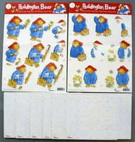 2 A4 Knipvellen beertje paddington en 6 x A5 kaartkarton