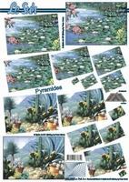 630046 Le Suh Pyramids waterbloemen