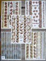 5 Decoratie knipvellen 20 X 28 cm gepreegd en folie druk