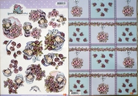 Yvonne Creations set1 3 D knipvel + Achtergrondvel