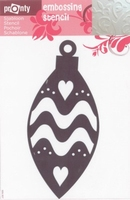 484139044 Pronty Emb. Stencil Kerstbal