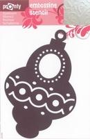 484139045 Pronty Emb. Stencil Kerstbal