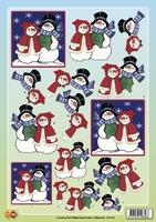 CD10105 Carddeco Sneeuwpop