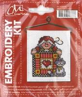 BK438699 Borduurpakket Kerst Hart