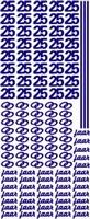 ST077G Sticker 25 jaar Goud
