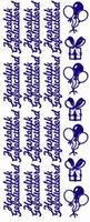ST087G Sticker Hartelijk Gefeliciteerd Goud