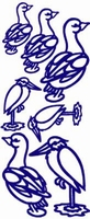 ST121G Stickers Div.vogels  Goud
