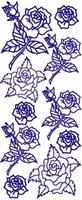 ST124G Sticker Div.bloemen  Goud