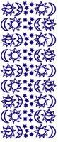 ST128G Sticker Zon,maan,sterren  Goud