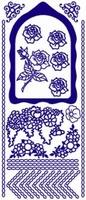 ST136Z Sticker Bloemen-Randen Zilver