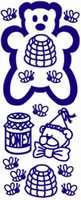 ST142G Sticker Beertje-honing  Goud