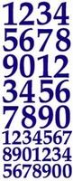 ST169Z Sticker Cijfers  Zilver
