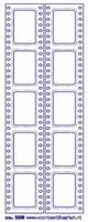 ST238TZ Sticker Randen Rechthoek Trans. Zilver