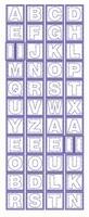 ST243TG Sticker Alfabet Transparant Goud