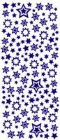ST549GZ Sticker Kerststerren GroenZilver
