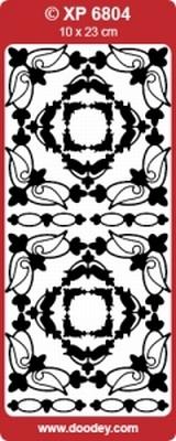 XP6804HRZ  Stickers Div.Ornamenten Holografische Roze