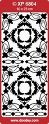 XP6804 Stickers Div.Ornamenten - Holografische-Zilver