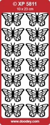 XP5811GL Stickers Vlinders Geel