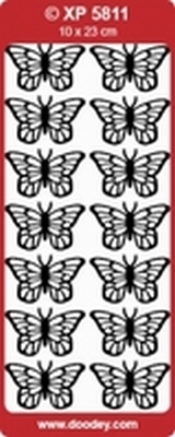 XP5811RZ Stickers Vlinders  Roze