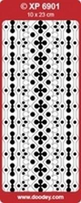 XP6901RG Stickers Ornamenten Rood-Goud