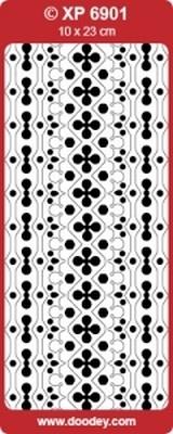 XP6901 Stickers Ornamenten -  Fuchsia/goud
