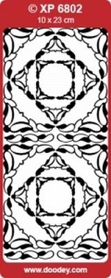 XP6802TRG Sticker Ornamenten Transparant-Goud