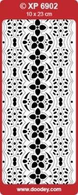 XP6902FU Sticker Ornamenten - Fuchsia/goud