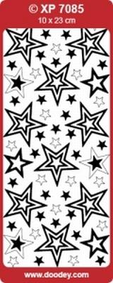 XP7085TRZ Stickers Kerststerren Transparant-Zilver