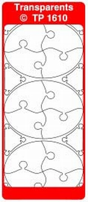 TP1610TRZ Stickers Ornamenten Transparant Zilver