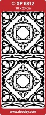XP6812TRZ Stickers Ornamenten Transparant Zilver