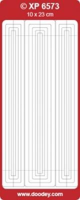 XP6573 Sticker Randen Transparant-Zilver