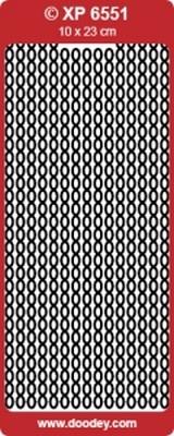 XP6551TZ Sticker Randen Transparant/Zikver