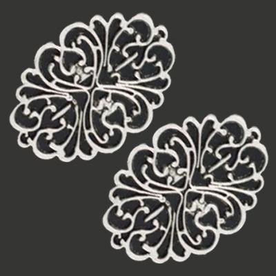 11808-9225 Metalen ornament 44x61 mm 2 stuks