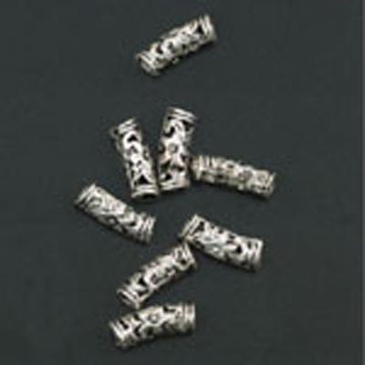11808-9201 Metalen ornament antiek zilver 21 mm 8 stuks