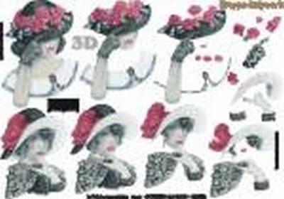 416941 LeSuh Dame met hoed