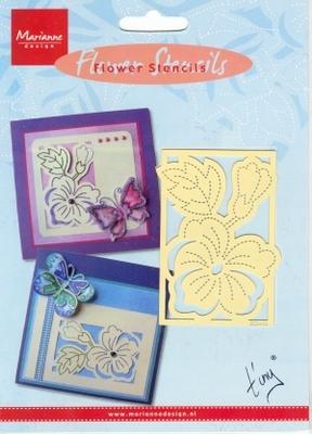 EE3440 - Marianne Design Tiny's Bloemen Stencil Pansy